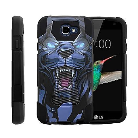 TurtleArmor   LG K4 Case   Optimus Zone 3 Case   LG Spree   LG Rebel [Dynamic Shell] Hybrid Two Layer Case Impact Absorber Shock Silicone Cover Hard Kickstand Animal Design - Fierce (Lg Dynamic 2 Phone Case Camo)
