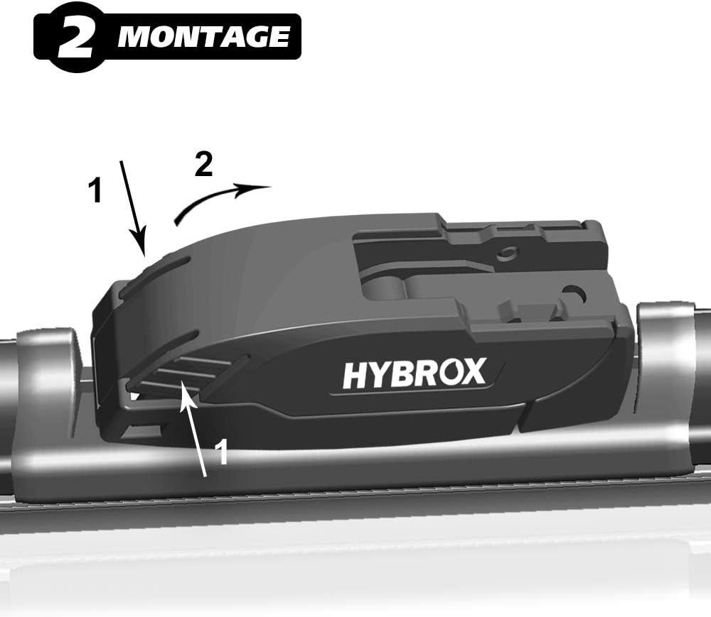 Hybrox Front Scheibenwischer Set Hybro S054 Auto