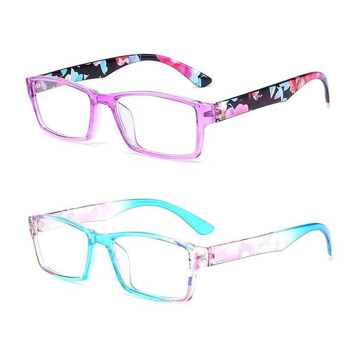 5b1fd8217d Inlefen Gafas de lectura de 2 pares Gafas unisex diseñadas con estilo para  leer 2 colores: Amazon.es: Ropa y accesorios
