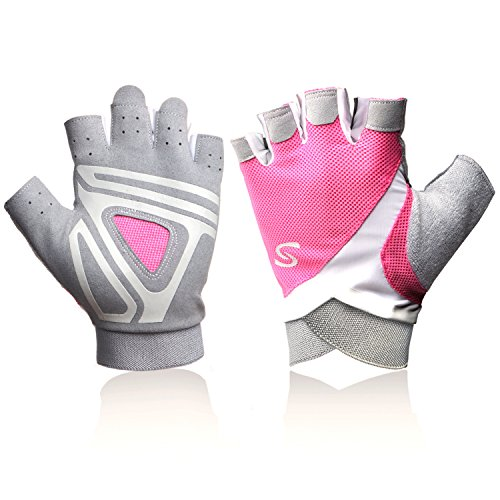 Pink Rowing Gloves for Women Ideal for Indoor Weight Lifting, Workout, Sculling, Kayak, SUP, Outrigger Canoe, Dragon Boat (kayak gloves - Outrigger Boat
