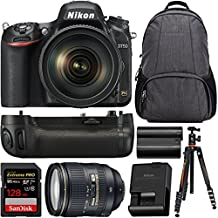 Nikon D750 Digital SLR Camera with 24-120mm ED VR Lens + Nikon MB-D16 Battery Grip Bundle