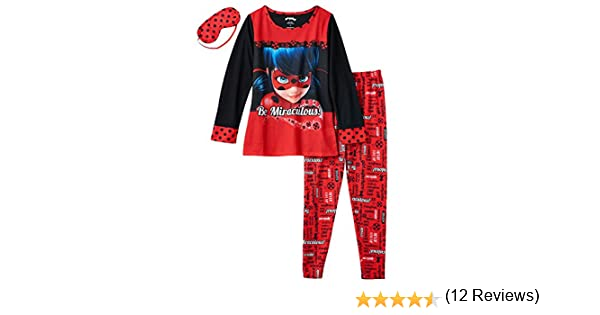 Amazon.com: Miraculous Ladybug Girls Pajamas Set with Sleep Mask (Little Kid/Big Kid): Clothing