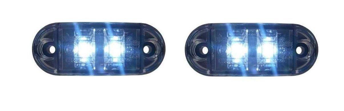 4x LED 24V WEISS BEGRENZUNGSLEUCHTE UMRISSLEUCHTE POSITIONSLEUCHTE SEITENMARKIERUNGSLEUCHTE LKW E-Pr/üf E9