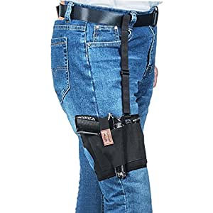 Fullmosa Concealed Carry Leg Holster, Non-Slip Thigh Holster Adjustable Gun Holster with a Mag Pouch for Fits Glock, Ruger, Sig Sauer, S&W for Men,Women,Right and Left Hand Draw -QS