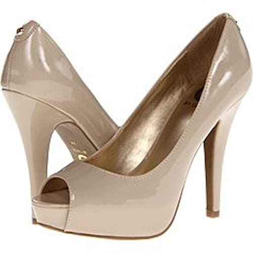 ae236bcb811 G By Guess Women s Ninza Nude Patent Pump High Heel Platform Shoe 8 M   Amazon.ca  Shoes   Handbags