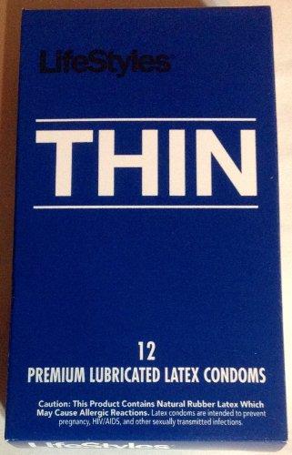 Style de vie premium lubrifiés minces Préservatifs - Une boîte de 12