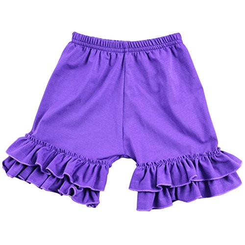 (Baby Girl Double Icing Ruffle Cotton Girl Shorts Bottom Pants Soft Activewear Slacks Boutique)