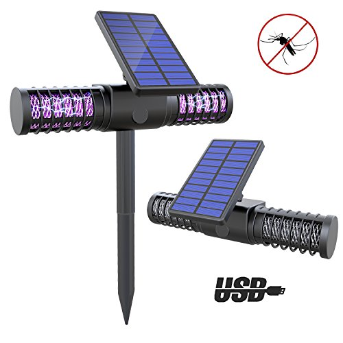 Price comparison product image Solar Bug Zapper Light - Dolucky Wireless Insect & Mosquito Killer Light with 4 UV LED Bulbs
