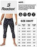 Roadbox Mens 3/4 Compression Pants with Pockets