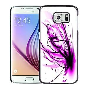 Fashion DIY Custom Designed Samsung Galaxy S6 Phone Case For Purple Paint Splash Phone Case Cover