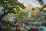 Ceaco Thomas Kinkade The Disney Dreams Collection 4 in 1 Multipack Lion King, Peter Pan, Princess & the Frog, & Jungle Book Jigsaw Puzzles, (4) 500 Pieces