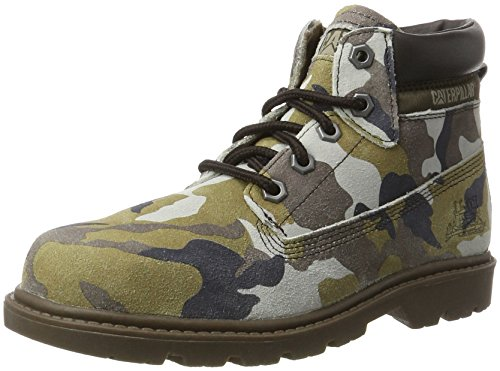 Caterpillar Colorado Plus, Botines Unisex, para Niños Verde (Kids Green Camo)