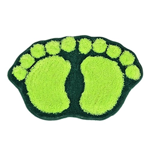 UPC 751354829181, Outtop Lovely Hulk Footprint Bibulous Mat Carpet for Bathroom Kitchen Floor (Green)