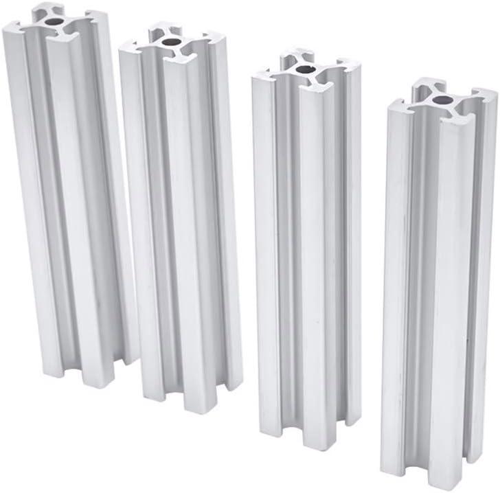 Color : 100 mm BTCS-X 4pcs CNC Aluminum Profile Extrusion 2020 3D Printer Parts Anodized Linear Guide Aluminum Profile for Guide Rail Parts Mechanical Parts DIY