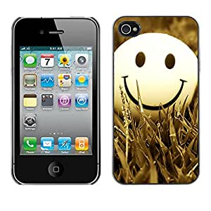 Hot Style Cell Phone PC Hard Case Cover // M00100785 smiley art gress // Apple iPhone 4 4S