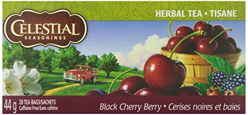Celestial Seasonings Herb Tea Black Cherry Berry, 20-count (Pack of6)