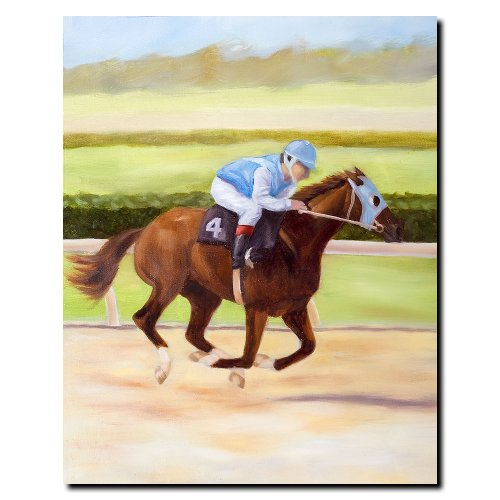 Michelle Moate Horse - Trademark Fine Art Horse of Sport II by Michelle Moate Canvas Wall Art, 18x24-Inch