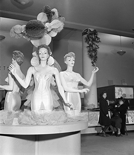 Department Store 1942 Na Lingerie Display At RH Macy & Company Store In New York City Photograph By Marjory Collins December 1942 Poster Print by (24 x 36) (Macys In New York City)