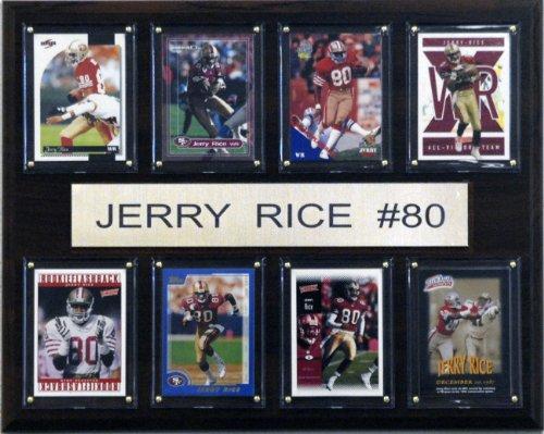 NFL Jerry Rice San Francisco 49ers 8 Card Plaque