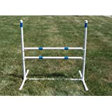 """Agility Gear Training Jump - (One Jump with Two 30"""" Striped Bars)"""