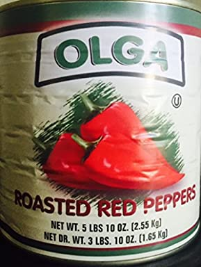 Olga Roasted Pepeprs 90 oz Can