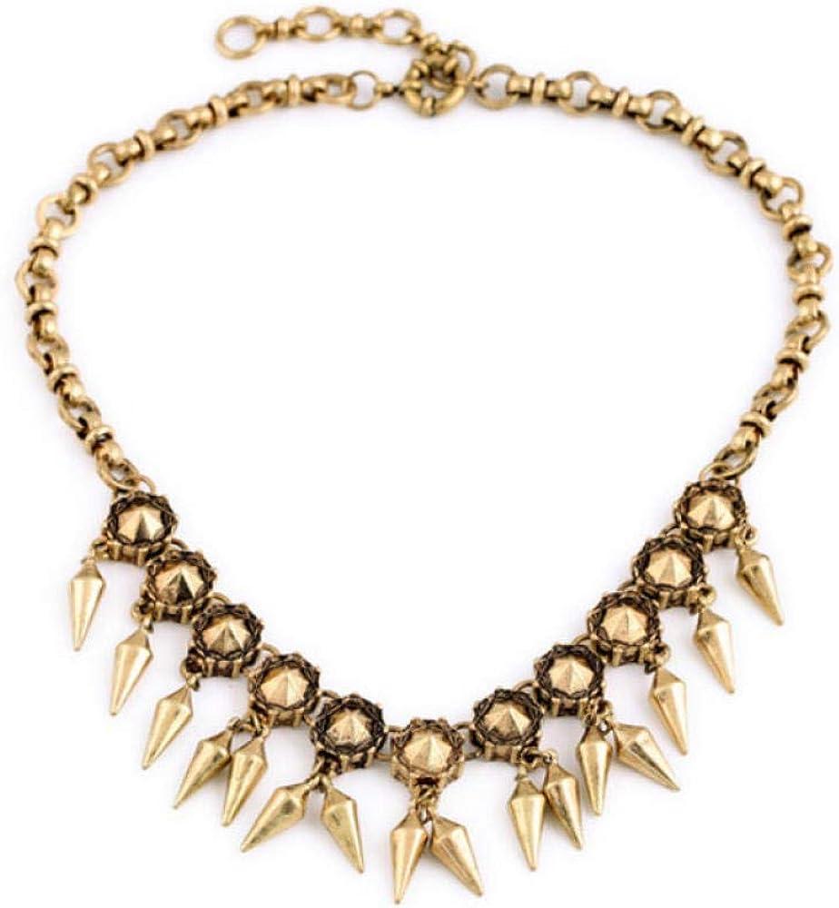 Moda Mujer Accesorios de disfraces Nuevo diseño Vintage Collares Antiguo Color dorado Color río Borla Collar