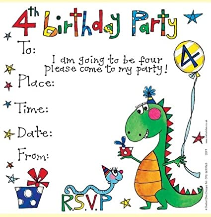 Amazon Rachel Ellen Set Of 8 Childrens Party Invitations