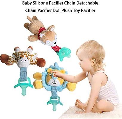 Chupetes para animales: chupete de silicona para bebés con clip ...