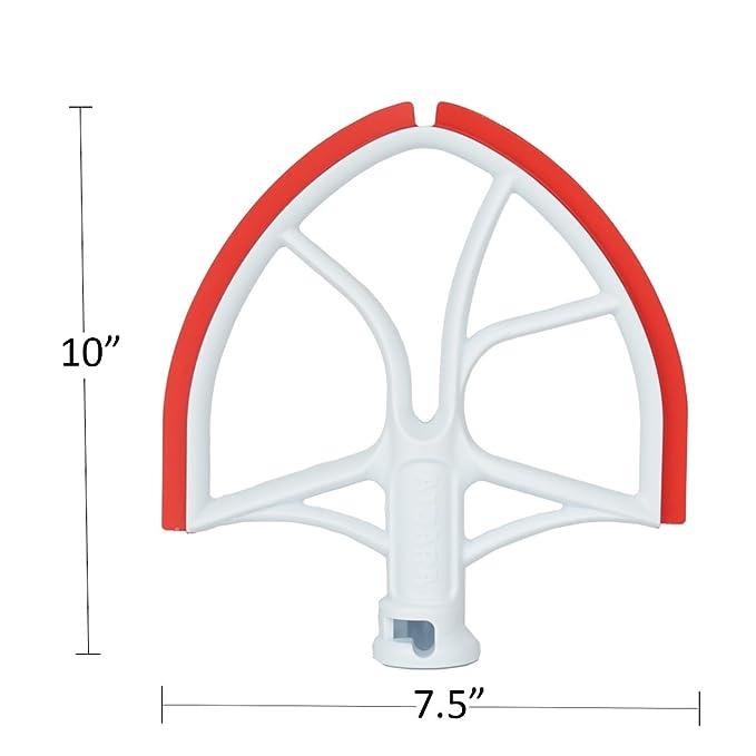 Soporte de varilla con Flex borde cuenco rasqueta plana hoja para KitchenAid 6-quart cuenco mezclador de ascensor, Rojo: Amazon.es: Deportes y aire libre