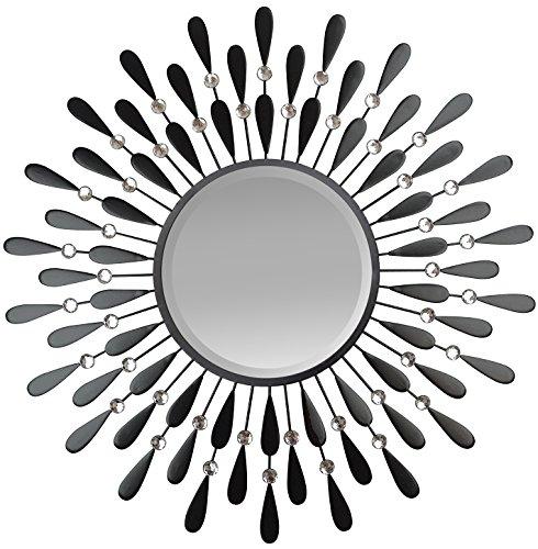 Cheap  LuLu Decor, Black Drop Wall Mirror, beveled mirror, Frame Size 23