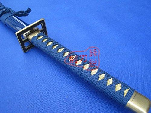 "S3106 ANIME BLEACH KUCHIKI BYAKUYA SENBONZAKURA SWORD SHINY HAMON BLADE 41"" NAVY"