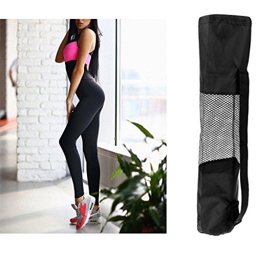 MagiDeal Donne Yoga Tuta E Tappetto Portatore Borse Fitness Leggings Mat vettore Running Suit