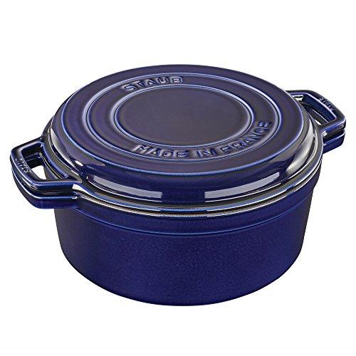 Staub Cast Iron 7-qt Braise & Grill - Dark Blue by Staub