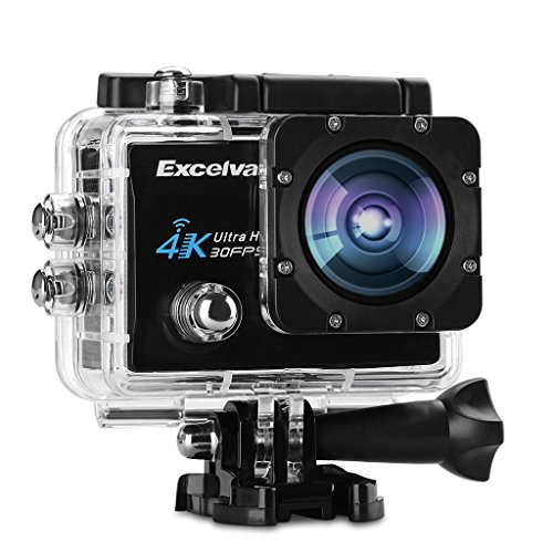 Excelvan Q8 Full HD 4K 1080P Waterproof Sports Action Camera kits with 2.0 Inch WIFI 16MP Accessories
