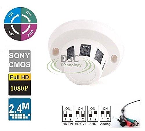 /CVI /AHD/CVBS Hidden Covert Smoke Detector CCTV Camera (BNC) ()