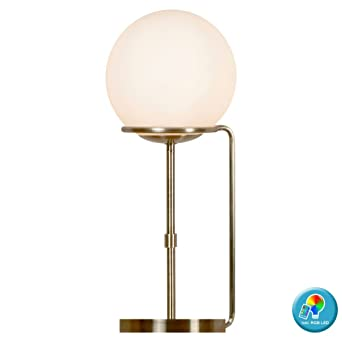 Boule Lampe Pied En Verre De Télécommande À Table Laiton erdWBCxo