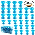 30 PCS Blue Hair Care Rollers Hair Curlers Silicone No Clip Hair Style Rollers Soft Magic DIY Curling Hairstyle Tools Hair Accessories