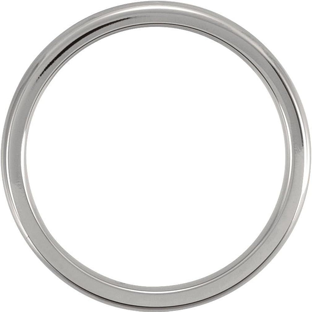 Titanium 3mm Comfort Fit Dome Band Size 5