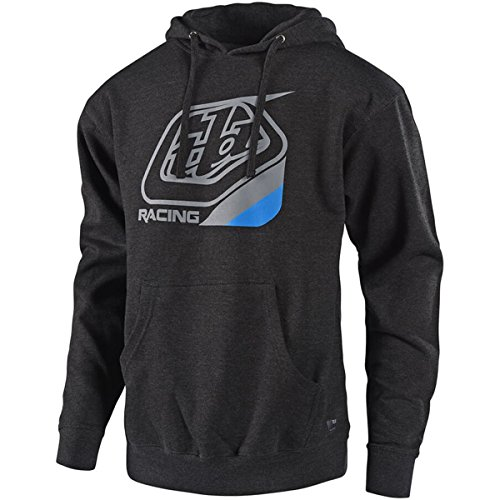 Troy Lee Designs Precision Pullover Hoodie-Charcoal Heather-M by Troy Lee Designs