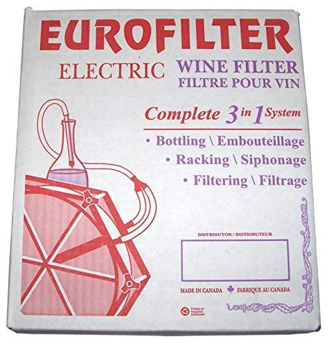 System Filtering (North Mountain Supply LQ 16436 Eurofilter 3in1 Electric Eurofilter Wine Filtering System)