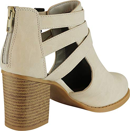 Pictures of Cambridge Select Women's Side Cut Out Light Taupe Nbpu 4