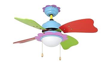 Perfekt Orbegozo DC 62075 U2013 Deckenventilator Für Kinder, Mit Licht, 4 Flügel, ...