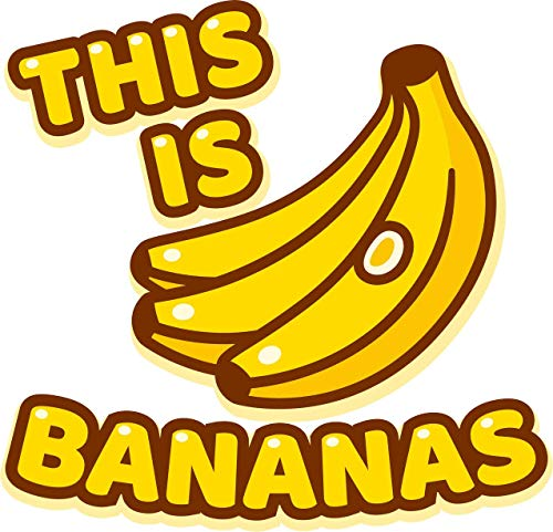 This is Bananas Saying with Cartoon Drawing of Banana Bunch Design Truck Car Bumper Sticker Vinyl Decal 5