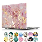 PapyHall Painting Plastic Pattern Hard Case Only Fits for Old Macbook Pro 15 inch with Retian Display Model: A1398, No CD-Rom (DZ-Gold Pink