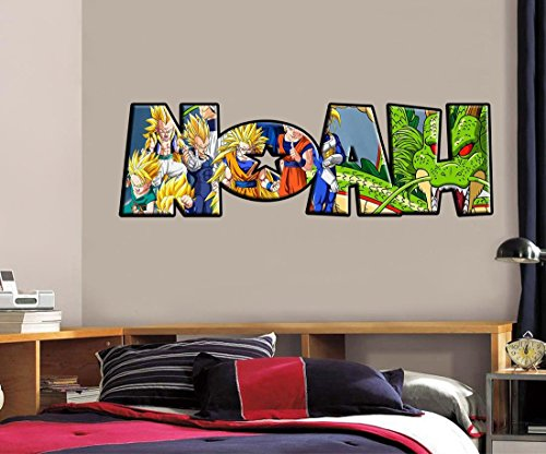 Dragon Ball Z PERSONALIZED NAME Decal Removable WALL