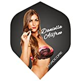 Hardcore Daniella Allfree Extra Thick Standard Dart Flights - 5 sets Per Pack (15 Dart Flights in total) & Red Dragon Checkout Card