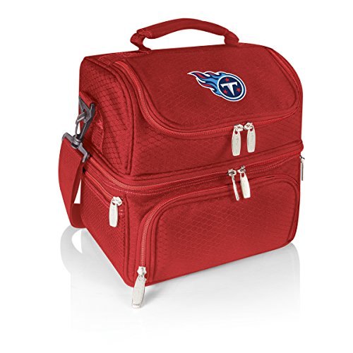 PICNIC TIME NFL Tennessee Titans Pranzo Insulated Lunch Tote with Service for One, - Tennessee Titans Salt