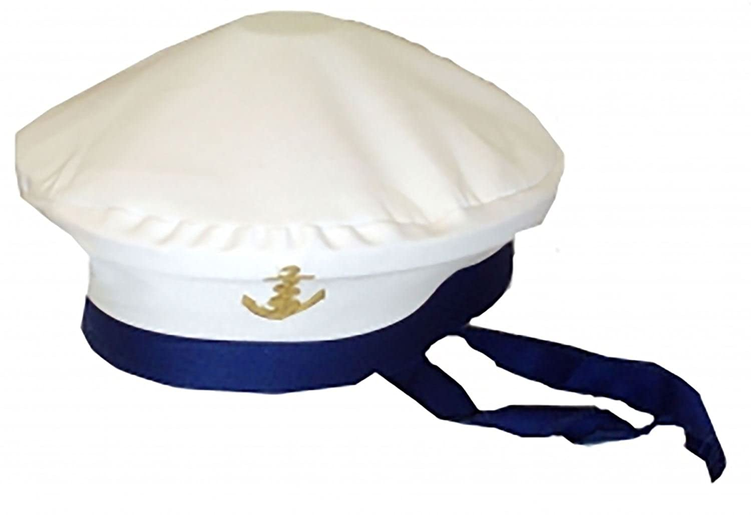 Da Uomo Navy Capitano Marinaio Cappello da donna Marine Force Costume Festa Accessorio Cappello