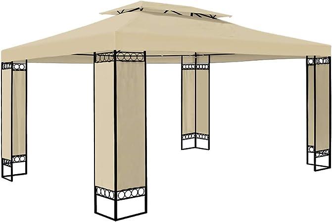 12m/² tendone padiglione esterno patio feste matrimonio blu Deuba Gazebo da giardino Elda 3x4 doppio tetto poliestere Protezione UV50
