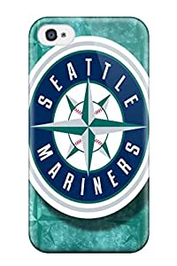 4/4s Scratch-proof Protection Case Cover For Iphone/ Hot Seattle Mariners Phone Case